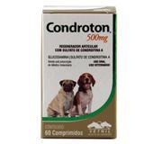 Condroton 500mg 60 comp Vetnil Suplemento Cães Gatos