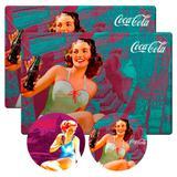 Conj 2 Jogos Americanos Pin Up Blue Coca Cola Retrô - Versare anos dourados