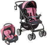 Conj. Carrinho de bebê AT6 K + Touring Evolution SE Preto/Rosa - Burigotto