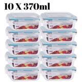 Conjunto 10 Potes Vidro Hermético mantimentos marmita 370ml - Casa linda