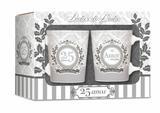 Conjunto 2 canecas - datas -  bodas de prata - Brasfoot