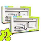 Conjunto 2 Kits Acessorio Banheiro 5 Peças Metal Cromado - Aladdin