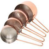 Conjunto 4 Xícaras Medidoras Cor Bronze Rosê Gold Mimo Style