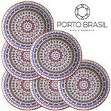 Conjunto 6 pratos rasos Coup Henna 27cm Porto Brasil