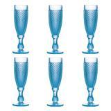 Conjunto 6 Taças Bico de Jaca Azul 185ml - Rojemac