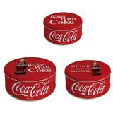 Conjunto Caixa Organizadora Classic Coke 3 Peças Coca-Cola