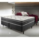 Conjunto Cama Box Queen Size Soft Confort Euro Pillow - 158x198x060 - Ecoflex