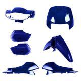 Conjunto Carenagem Pro Tork Biz E Biz+ 100 2002/03 Azul Twister Perolizado