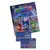 Conjunto com 1 Álbum Brochura + 12 Envelopes de Figurinhas - PJ Masks - Panini