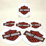 Conjunto com 6 Porta Copos Redondos Harley Emblema - All classics