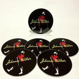 Conjunto com 6 Porta Copos Redondos Johnnie Walker Vermelho - All classics