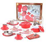 Conjunto Completo Master Chef - Vermelho - Nikki - New toys