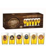 Conjunto Copos De Vidro Para Cerveja Caldereta Press 300ml 6 Peças - Ruvolo