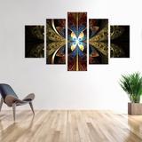 Conjunto de 5 Telas Decorativas em Canvas Gothic Vidral - Love decor