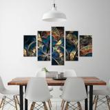 Conjunto de 5 Telas Decorativas em Canvas Vitral Ols - Love decor