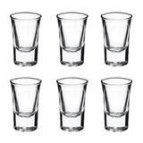 Conjunto de 6 Copos para Shot Bebidas Vidro para Festas Enfeite 35 ml - Mundo thata