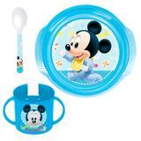 Conjunto de Alimentação - 3 Peças - Disney - Mickey Mouse - New Toys