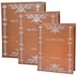 Conjunto de caixas formato livro - 3 pcs - Btc decor