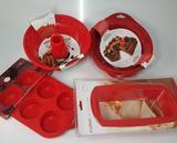 Conjunto de Formas de Silicone para Pães, Bolos, Cupcake e Pudim - Art House