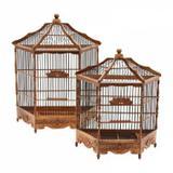 Conjunto de gaiolas de madeira 2 pcs - Btc decor