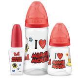 Conjunto de Mamadeiras - 3 Unidades - Design - Minnie Mouse - Lillo