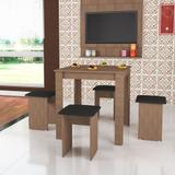 Conjunto de Mesa com 4 Banquetas Estofadas CJ018 Art in Móveis