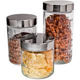 Conjunto de Potes de Vidro com Tampa Sabores 3 peças - Euro Home