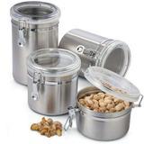 Conjunto de Potes Herméticos em Inox - 4 pçs Clink