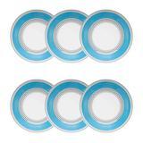 Conjunto de Pratos Fundos 21 cm 6 Peças Candy Dots - Oxford - Oxford sc