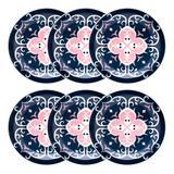 Conjunto de Pratos Rasos 26 cm 6 peças Floreal Hana - Oxford - Oxford sc