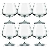 Conjunto de Taças de Cristal Para Conhaque / Drinks 6 Peças 585 ml Nadir Figueiredo Excellence 7198