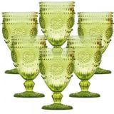 Conjunto de Taças para Água Aubusson Verde 6 pçs - Decorafast