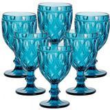 Conjunto de Taças para Água Diamond Azul 6 pçs - Decorafast