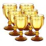 Conjunto de Taças para Água Libélula Âmbar 6 peças - Decorafast