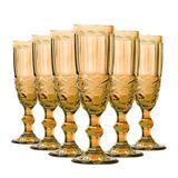 Conjunto de Taças para Champagne Elegance Amber 6 Peças 140ml Class Home