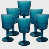 Conjunto de Taças Quadriculadas Azul 6 peças - Decorafast