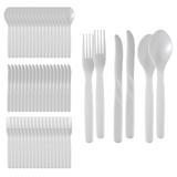 Conjunto de Talheres Plásticos P/ Cozinha - 60 Peças - Nitron