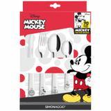 Conjunto de Talheres Simonaggio Disney Mickey 90 Anos - 24 Pçs - Edição Limitada - Branco