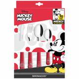 Conjunto de Talheres Simonaggio Disney Mickey 90 Anos - 24 Pçs - Edição Limitada - Vermelho