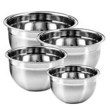 Conjunto de Tigelas Mixing Bowl Aço Inox 4 Peças KeHome