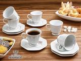 Conjunto de Xícaras de Chá com Pires Schmidt Linha Prisma 12 Unidades