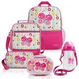 Conjunto Escolar Pequeninos 5 Peças Pink Borboleta  Jacki Design