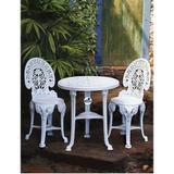 conjunto mesa redonda e 2 cadeira colonial plastico - Antares