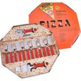 Conjunto Para Pizza 14 Peças Vermelho 25099722 Tramontina