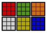 Conjunto Porta Copos com 6 unid (2 em 1) Imantados - Cubo Mágico Colorido - Formalivre