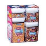 Conjunto Potes Herméticos Quadrado em Acrílico 4 Peças - Comercialize