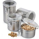 Conjunto Potes Para Mantimentos Herméticos Em Inox 4 Peças - Clink