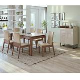 Conjunto Sala de Jantar Mesa Áries 180 cm Canto Copo 06 Cadeiras Áries e Buffet Lopas