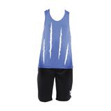 Conjunto Short Dryfit Alpha Dry - Bermuda Preta e Regata Azul - Mundo Alpha