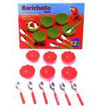 Conjunto Sobremesa Plastico 12 Pçs Laranja - Barichello